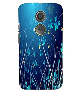 ColourCraft Floral Design Back Case Cover for MOTOROLA MOTO X2