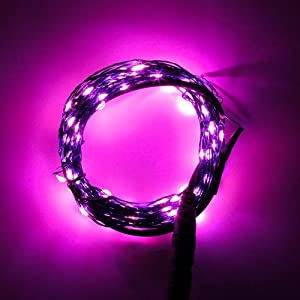 Pink String Lights For Bedroom : Amazon.com: SINOLLC 10M 32.8ft 100 LEDs Waterproof Pink Starry Starry LED String Lights for ...