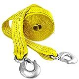 "Capri Tools CTW2-20 2"" x 20' Heavy Duty 10,000 lb Tow Strap with Hooks"