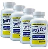 (Pack of 4) - Ivory Caps Skin Whitening Glutathione 1500 Pills