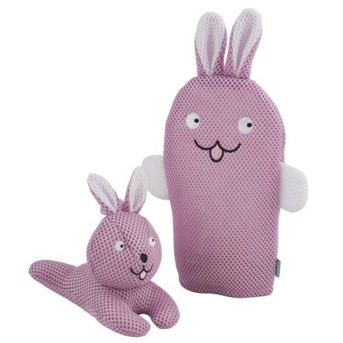 Rich Frog Wacky Wash Mitt and Bath Sponge Combo - Bunny