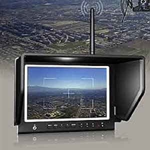 "Lilliput 7"" 664/w FPV Slim Monitor with 5.8ghz 8 Channel Wireless Receiver IPS Screen 1280x800 Fpv Monitor W/sunhood FPV Monitor or Aero Photography 16:9 or 4:3 Adjustable Display Ratio, No Blue Screen Outdoor Works with DJI Phantom Drones Quadcopter Aerial Fly Wireless Camera System High Resolution1280x800,178° Wide Angle By Only USA Authorized Seller:viviteq INC"