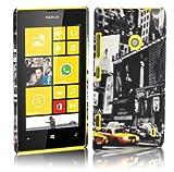 Cadorabo ! TPU Hard Cover für Nokia Lumia 520 im Muster New York Cab