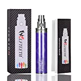 WOLFTEETH GS eGo II 電子タバコ 2200mAH電池 ニコチン無し 充電可能電池ペン バッテリー 取扱説明書付 パープル(おしゃれな柄入り) 1056