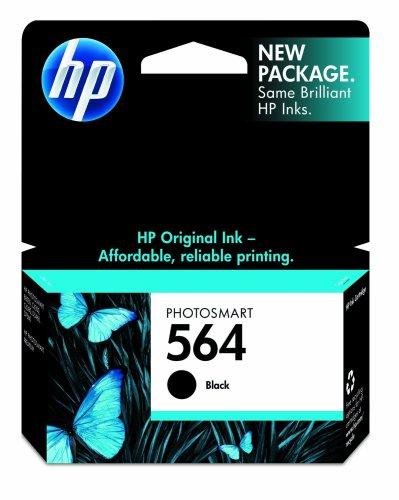 HP 564 Black Ink Cartridge in Retail Packaging