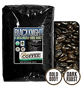 Black Knight Dark Roast OFT, Whole Bean Coffee, Fresh Roasted Coffee LLC. from Fresh Roasted Coffee LLC.