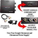 HDMI Converter for Google Chromecast: Use Chromecast with Older TVs that have Composite (red/white/yellow) Inputs. Includes Converter, Power Adapter Cable and Composite Video Cable.