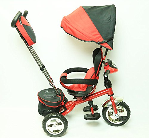 New-3-in-1-Trike-Kid-Tricycle-for-Toddler-with-Adjustable-Seat-Stroller-Ride-On-with-Canopy-Shade-and-LED-Lights-and-Sound-RED-Color