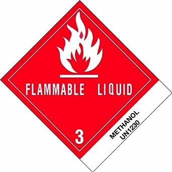 """DL517P1 Envío y manipulación de etiquetas, la leyenda """"El metanol"""