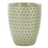 Feather Embossed Stoneware Tumbler
