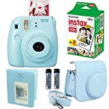 Fujifilm-Instax-Mini-8-Instant-Film-Camera-Blue-With-Fujifilm-Instax-Mini-Instant-Film-Twin-Pack-20-Sheets-Blue-PU-leather-Case-With-Photo-Album-64-Pockets-Blue-Value-Set-Accessories-Bundle