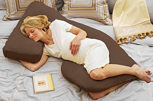 Today's Mom Cozy Cuddler Pregnancy Pillow, Espresso - 1