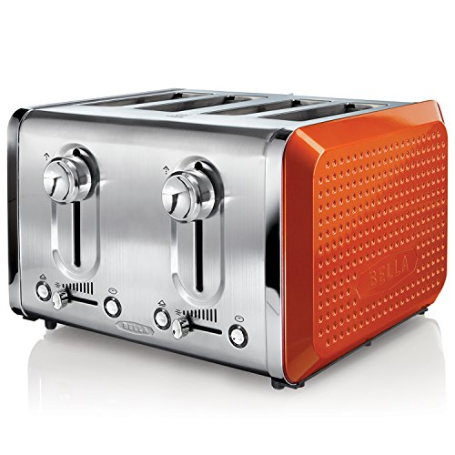 Dots Collection 4-Slice Toaster, Orange