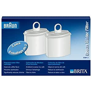 Amazon.com: Braun Brita Patented KWF2 Water Filter (2-Pack): Braun Coffee Maker: Kitchen & Dining