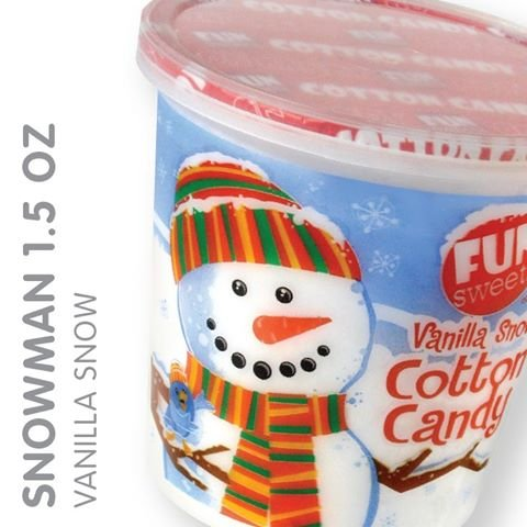 Fun Sweet Vanilla Snow Cotton Candy 1.5 Oz [Pack of 5]