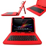 DURAGADGET Faux Leather Protective Case With Micro USB FRENCH Keyboard For Acer Iconia A3-A10 / W510 / W511 / A3-A10-L849 / A3-A10-L662 / W510-1458