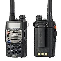 New Etekcity® UV 5RA Ham Two Way Radio 136-174/400-480 MHz Dual-Band DTMF CTCSS DCS FM 5W Amateur Radio UV-5R Transceiver - 2013 Latest Version with Enhanced Features