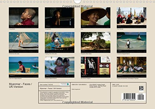 Myanmar - Faces / UK-Version (Wall Calendar 2016 DIN A3 Landscape): Myanmar - Unspoiled nature, devout people, harmony and real friendliness (Monthly calendar, 14 pages) (Calvendo People)