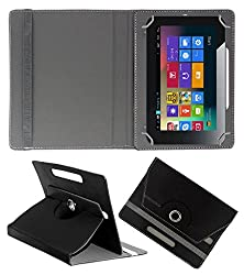 ACM ROTATING 360° LEATHER FLIP CASE FOR ARROW TAB AT-70 TABLET STAND COVER HOLDER BLACK