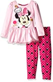 Disney Girls Little Girls 2 Piece Minnie Mouse Bow Back Top and Legging Set