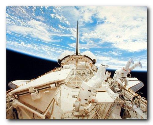 NASA-Space-Shuttle-Doors-Open-Science-Motivational-Wall-Decor-Art-Print-Poster-16x20