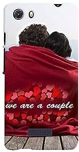 PRINTVISA Quotes Love Couple Case Cover for Micromax Unite 3 Q372 (Multicolour)