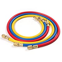 "Atoplee 3pcs (2500~500)PSI 40"" 1/4 ""SAE-1/4"" SAE AC Charging Hose Set For HVAC Air Condition Refrigerant R12 R22 R502 from Atoplee"