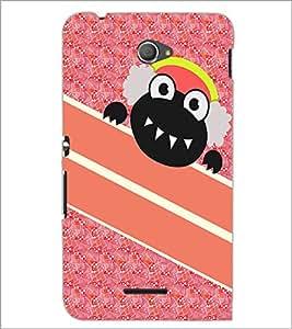PrintDhaba Cartoon D-5743 Back Case Cover for SONY XPERIA E4 (Multi-Coloured)
