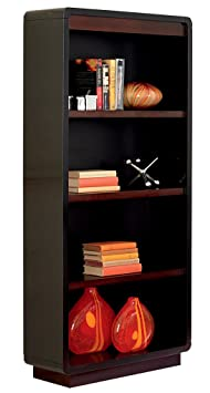 Martin Furniture Infinity Open Bookcase, Black - Fully Assembled