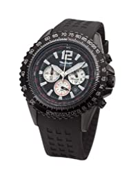 Perigaum 1972 Flightmaster P-0816-BS-PU Chronograph for Him Solid Case