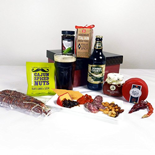 Hay Hampers HOT and SPICY, Beer, Cheese and Nibbles Hamper - FREE UK delivery