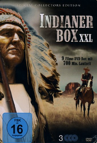 Indianer Box XXL (Metallbox mit 9 Filmen - 3DVDs)