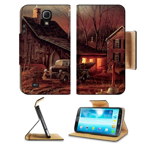 Artistic Moon Houses Cabin Barn Samsung Galaxy Mega 6.3 I9200 Flip Case Stand Magnetic Cover Open Ports Customized Made To Order Support Ready Premium Deluxe Pu Leather 7 1/16 Inch (171Mm) X 3 15/16 Inch (95Mm) X 9/16 Inch (14Mm) Msd Mega Cover Profession front-66808