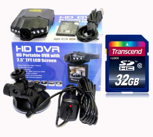 Blueskysea® 2013 Newest Dvr207 Hd720p Ir Car Vehicle Dash Camera+transcend 32gb Class10 Sd