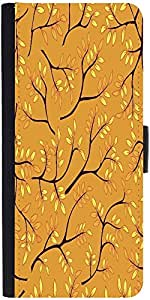 Snoogg A Seamless Pattern With Leaf Designer Protective Phone Flip Case Cover For Intex Eco 102E