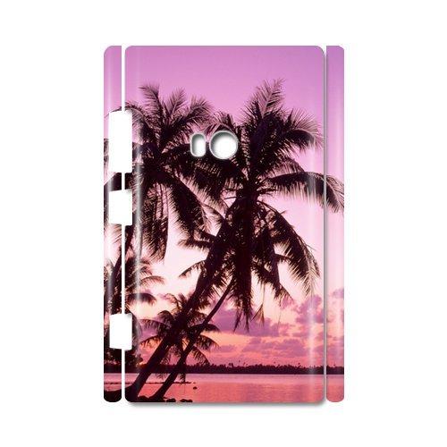 Palm Trees Romantic Twilight Of The Sea 100% Plastic 3D Case For Nokia Lumia 920