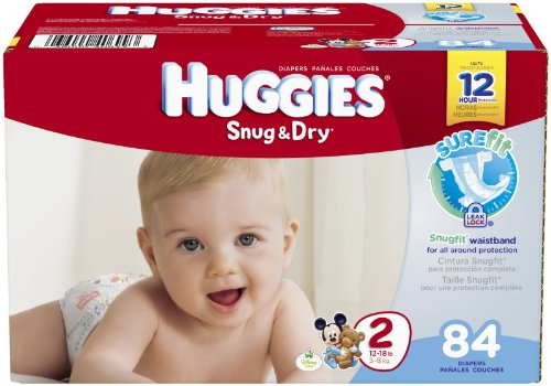 Huggies Snug and Dry Diapers - Size 2 - 84 ct - 1