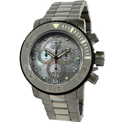 New Invicta 10770 Full Size Sea Hunter Swiss Chrono Platinum MOP Dial Watch