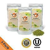 ON SALE - 3 PACK (Refill Pack) ZENDORI Matcha Green Tea Powder - Premium Quality - Culinary Grade from Japan - 3.5oz/100g