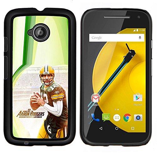 Aaron Rodger 12 NFL - Aluminum Metal & plastica dura Phone caso - nero - Motorola Moto E2 / E(2nd gen)