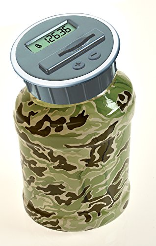 Digital Coin Bank Savings Jar - Automatic Coin Counter Totals all U.S. Coins including Dollars and Half Dollars -