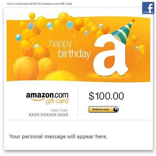 Amazon Gift Card Email Happy Birthday Balloons