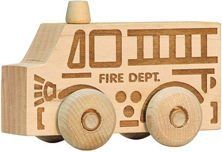 Natural Maple Fire Truck Scoot