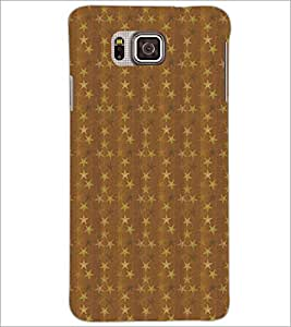 PrintDhaba Pattern D-5261 Back Case Cover for SAMSUNG GALAXY ALPHA (Multi-Coloured)
