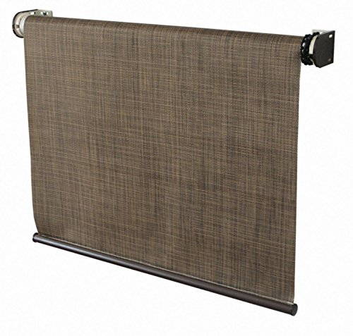 Coolaroo Designer Exterior Cordless Roller Shade 4ft By 6ft Sandalwood Home Garden Decor Window