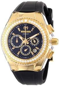 TechnoMarine Women's 111008 Cruise Original Star Chronograph Diamond Black Silicone Watch