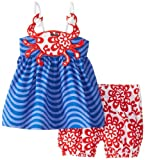 Mud Pie Baby Girls' Crab Tank and Short Set