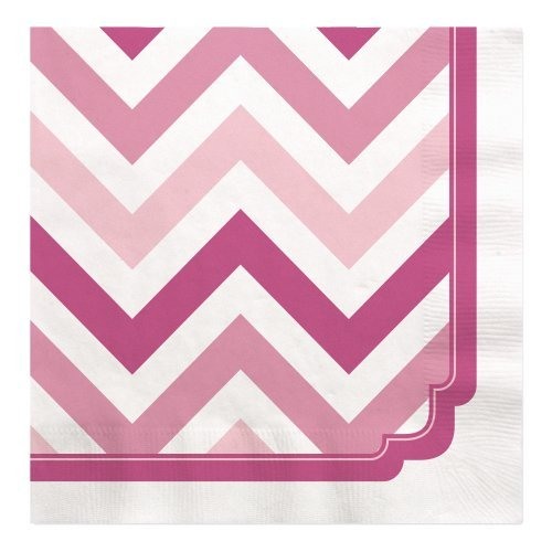 Chevron Pink - Luncheon Napkins