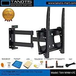 Imported LCD / LED TV Corner Swivel Tilt Wall Mount Bracket Variable Distance Double Arm supports 17
