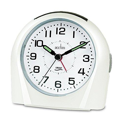 14112 Europa Alarm Clock, White 14112 14112 By Acctim
